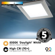 1 X 1 Foot Integrated LED Panel, 18W, 120V, 1800 Lumens, Surface Mount
