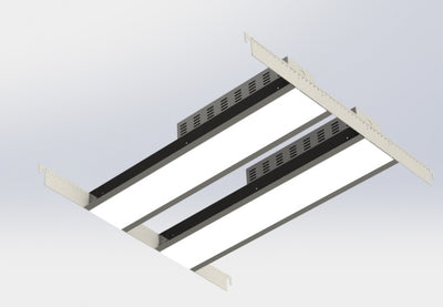 2'X2' Recessed Mounted Linear Fixture
