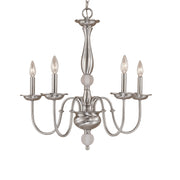 Millennium Lightings Madison Chandelier Offered in Satin Nickel finish, Item Number 2055-SN