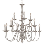 Millennium Lightings Madison Chandelier Offered in Satin Nickel finish, Item Number 2116-SN