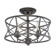 Millennium Lighting Semi-Flush Ceiling Mount 2173 Series - Antique Silver