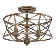 Millennium Lighting Semi-Flush Ceiling Mount 2173 Series - Vintage Gold