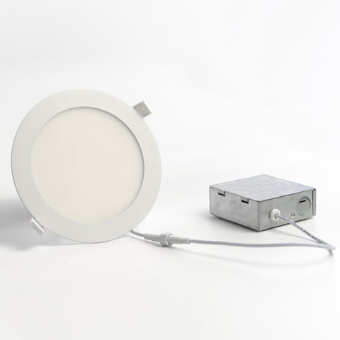 4 or 6 Inch LED Round Wafer Down Light, 120V, CCT Selectable: 2700K/3000K/3500K/4000K/5000K