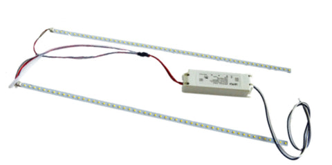 4 Foot LED Magnetic Strip Retrofit Kit for Troffer or Industrial Strip Fixtures, 20 watt, 120-277V