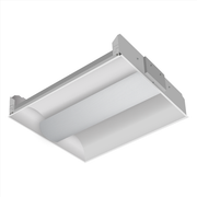 2 x 2 Foot Low Profile Center Basket Troffer, 2100-3150 Lumens, 2 or 3 Lamps, 9W, LED, 4000K, Lamps Included  - Image #2