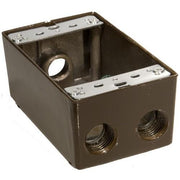 Weatherproof Boxes – One Gang 18.3 Cubic Inch Capacity – 4 Outlet Holes  - Image #2