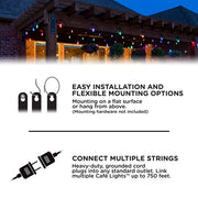 Color Changing Vintage LED String Lights, 24 Bulbs, 48 Ft. Black or White Cord, Linkable  - Image #5