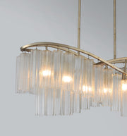 Victoria 6 Light Linear Chandelier  - Image #4