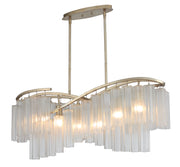 Victoria 6 Light Linear Chandelier  - Image #1