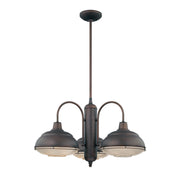 Millennium Lighting Neo-Industrial Chandelier 5333 Series (Available in Satin Nickel or Bronze Finishes)  - Image #1