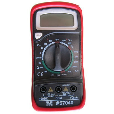 Digital Multimeter & Temperature Probe with Rubber Holster