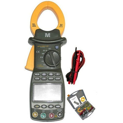 Cat III TRMS Autoranging 3 Phase Digital Power Clamp Meter