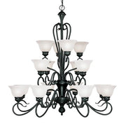 Millennium Lighting Devonshire Chandelier, Black Finish