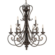 Millennium Lightings Brunswick Chandelier Offered in Burnished Gold finish, Item Number 7009-BG