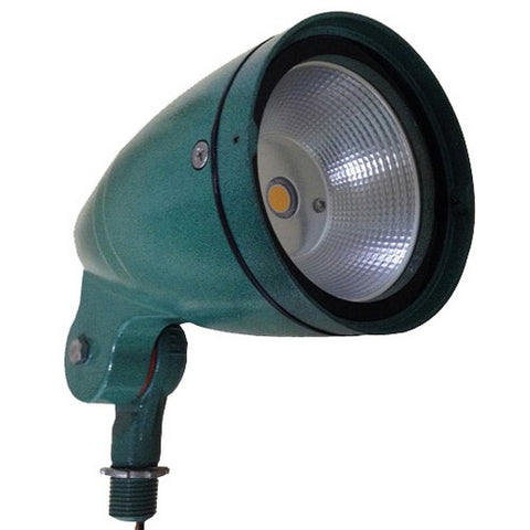 LED Bullet Flood Light 12 Watt 5000K 120-277V Green