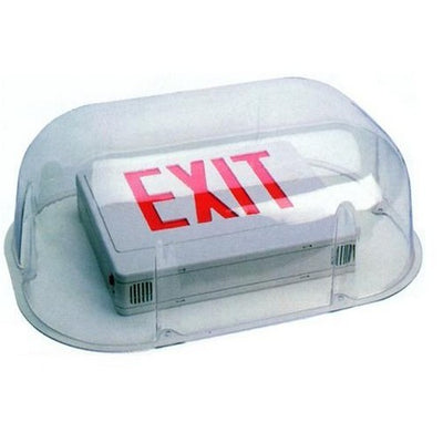 Polycarbonate Vandal/Environmental Shield Guard For Use With Combo Exit/Emergency Lights