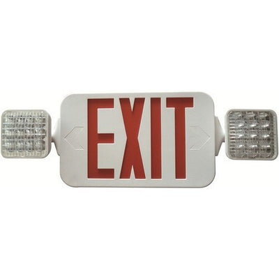 Square Head LED Combo Exit/Emergency Light High Output