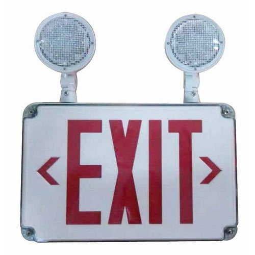 Led Wet Location Combination Exit Sign Emergency Light