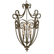 Millennium Lightings Iron Gate Pendant Offered in Burnished Gold finish, Item Number 7812-BG