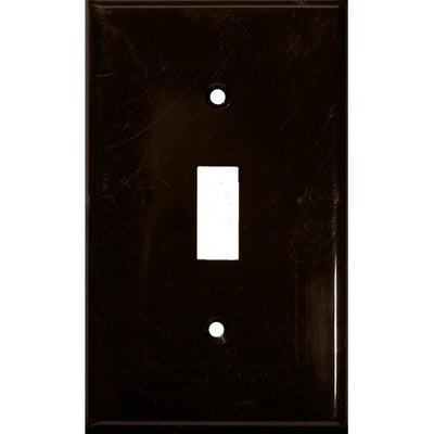 Lexan Wall Plates 1 Gang Toggle Switch Brown