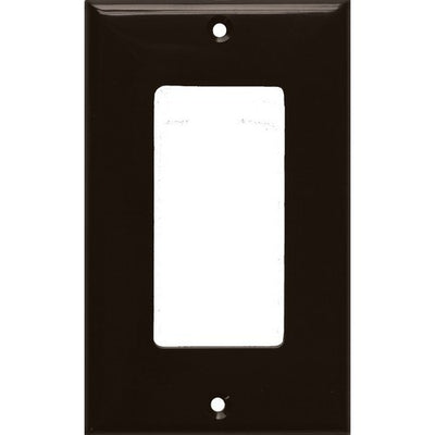 Lexan Wall Plates 1 Gang Decorative/GFCI Brown