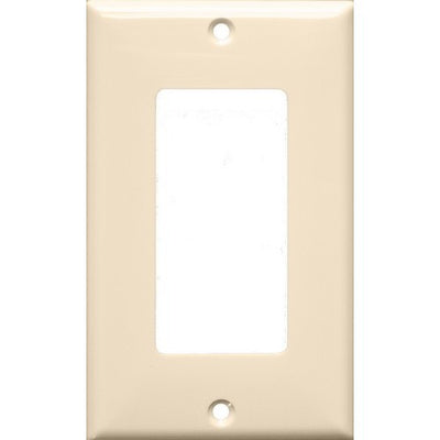 Lexan Wall Plates 1 Gang Decorative/GFCI Almond