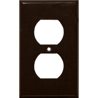 Lexan Wall Plates 1 Gang Duplex Receptacle Brown