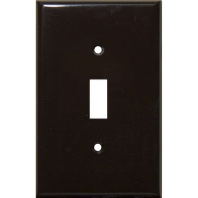 Lexan Wall Plates 1 Gang Midsize Toggle Switch Brown