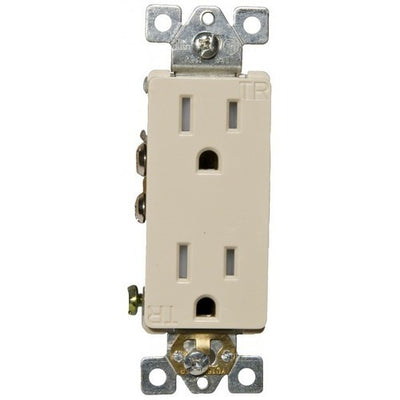 Decorative Tamper Resistant Duplex Receptacle