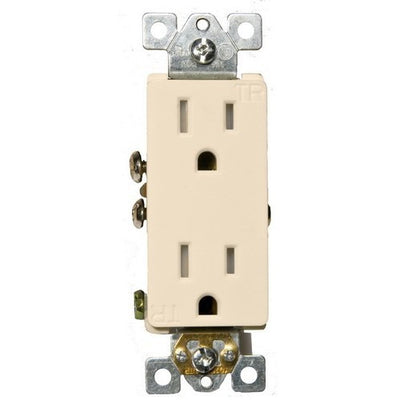 Decorative Tamper Resistant Duplex Receptacle Almond 15A-125V