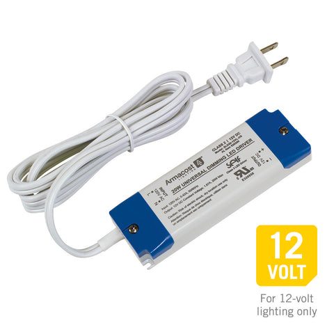 20 Watt Universal Dimming LED Driver, 12-Volt DC