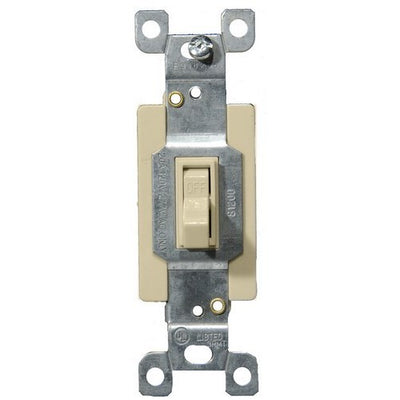 Commercial 3 Way Toggle -Switch Ivory 20A-120/277V