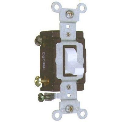 Commercial 3 Way Toggle -Switch White 20A-120/277V