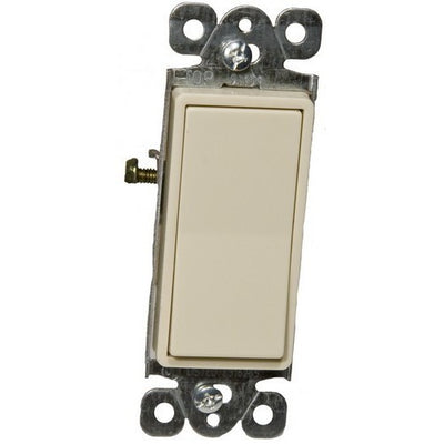 Commercial Grade Decorative Switches -Ivory Single Pole 20A 120-277V