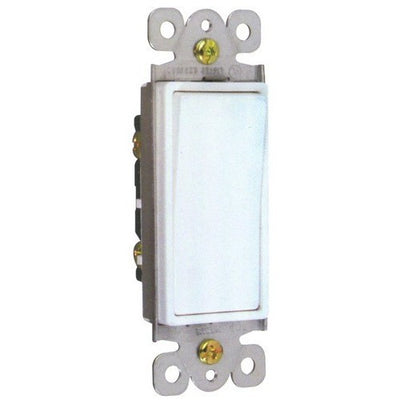 Commercial Grade Decorative Switches -White Single Pole 20A 120-277V