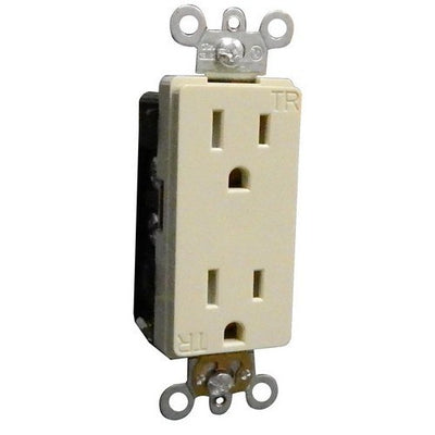 Decorative Tamper Resistant Commercial Grade Duplex Receptacle