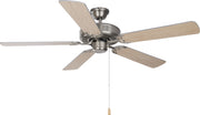 "Basic-Max 52"" Ceiling Fan, Silver/Maple Blades  - Image #1"