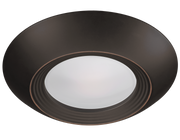 Oil Rubbed Bronze Trim for 7.5 Inch Flush Mount Disk Light with TwistFit Mounting System  - Image #2
