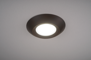 Oil Rubbed Bronze Trim for 7.5 Inch Flush Mount Disk Light with TwistFit Mounting System  - Image #4