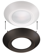 Oil Rubbed Bronze Trim for 7.5 Inch Flush Mount Disk Light with TwistFit Mounting System  - Image #6