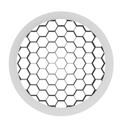 ATOM Series - Honeycomb Louver White Trim Ring  - Image #1