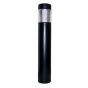 Amber LED Flat Top Bollard, 15W, 120-277V, w/ IES Type III Glass, Bronze or Black Finish  - Image #1