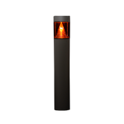 Amber LED Flat Top Bollard, 15W, 120-277V, Type V w/ LED Cone Reflector, Bronze or Black Finish  - Image #1