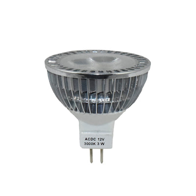 3W LED MR16 3000K 12V Bulb Clear