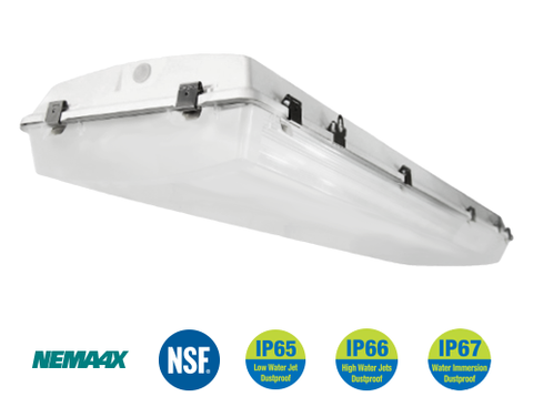 4 Foot LED Wet Location High Bay 120 watt, 17,410 Lumens, 120-277V