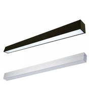 8 foot suspended beam led lighting fixture your choice of black or white