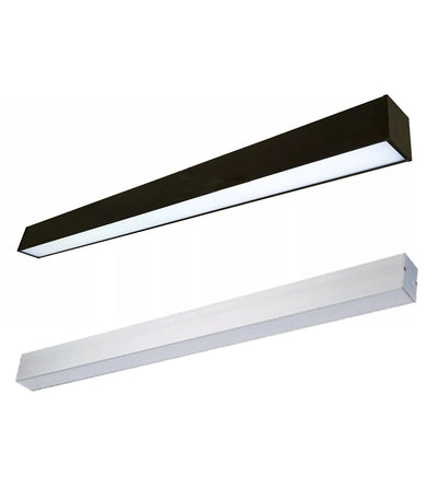 8 Foot LED Direct/Indirect Suspended Linear Fixture, 120W, 100-277V
