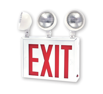 LED NYC Approved Exit/Emergency Combo, 2/3 Heads, Single Face