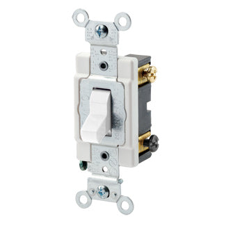 Commercial Spec 3-Way Toggle Switch, 15 Amp, 120/277 Volt, White