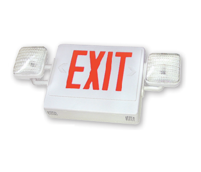 LED Exit/Emergency Combo, Universal Single/Double Face